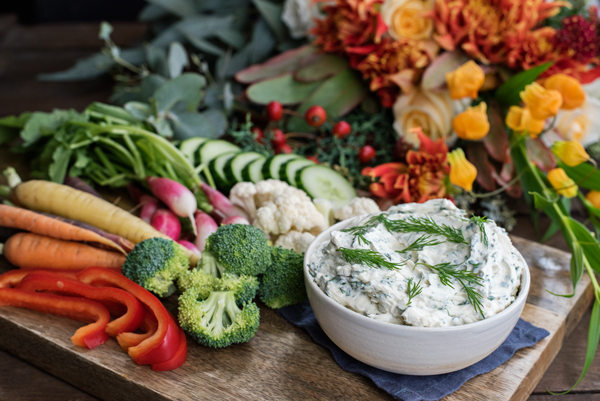 Fresh Herbed Cream Cheese Dip Recipe - perfect for the holidays!