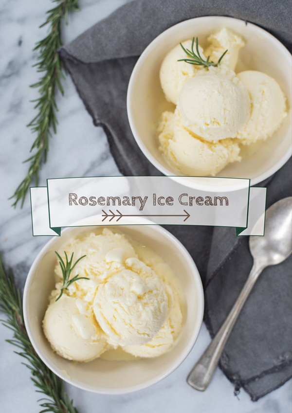 Delicious Rosemary Ice Cream Recipe - Perfect for Thanksgiving pumpkin pie!