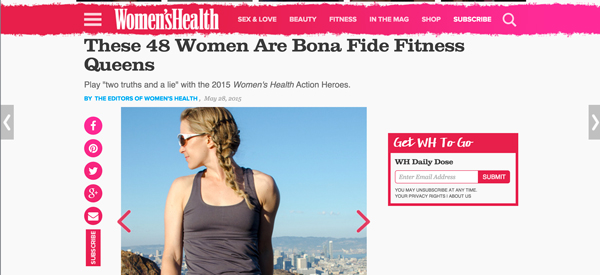 Women's Health Magazine Action Heroes