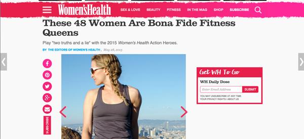 Women's Health Magazine Action Heroes