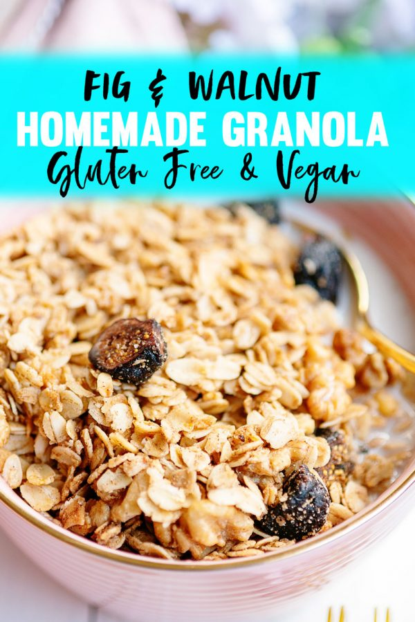 How to Make the BEST Easy Homemade Vegan Crunchy Granola - Recipe with Figs Maple Syrup