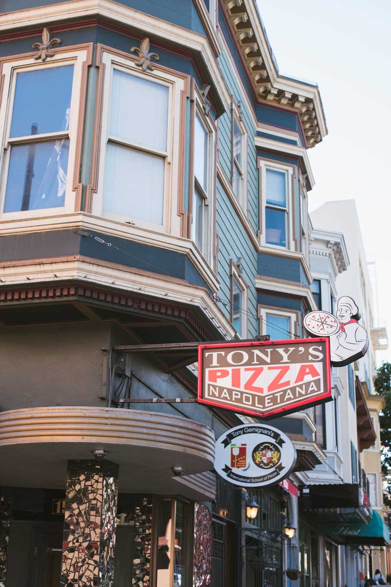 Tony's Pizza Italian Restaurant in North Beach, San Francisco