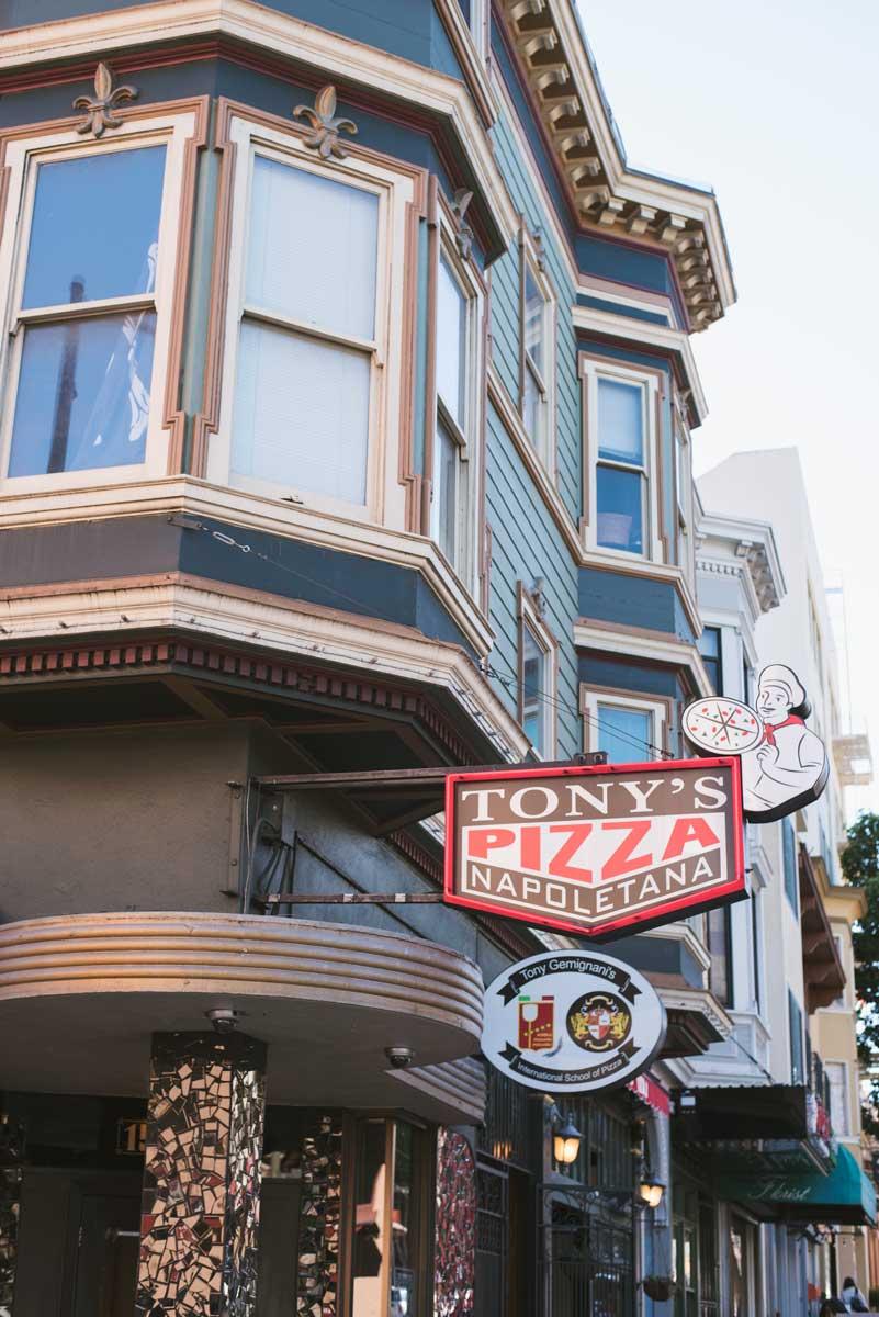 Tony S Pizza Italian Restaurant In North Beach San Francisco