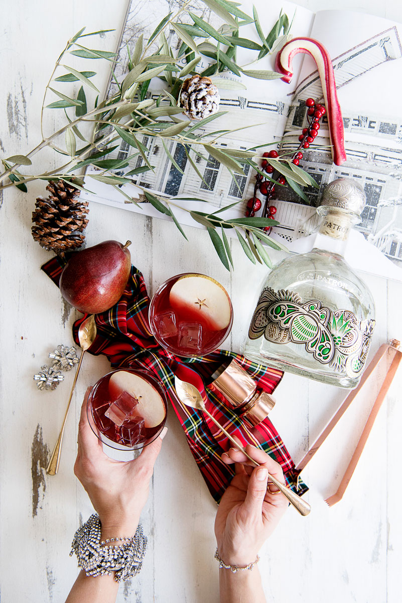 Make-Ahead Holiday Cocktail Recipe - Tequila Punch with Pear Brandy