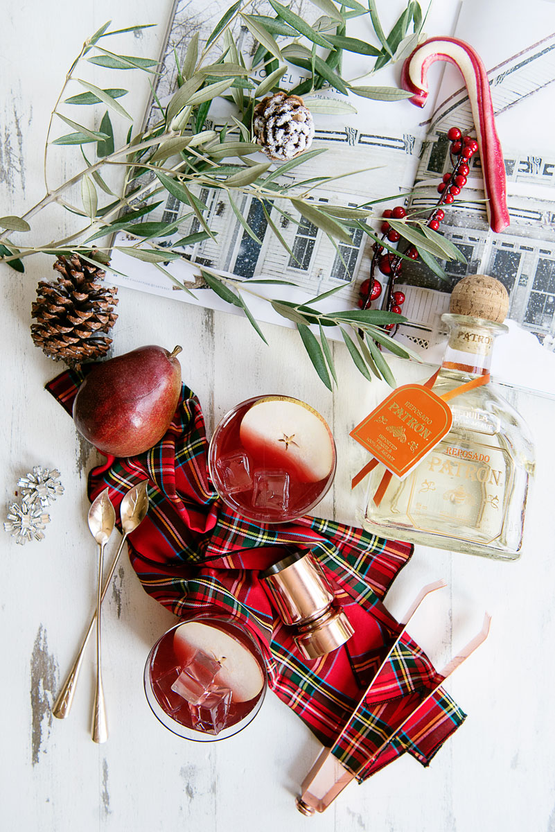 Make Ahead Holiday Cocktail Recipe - Tequila Punch with Pear Brandy