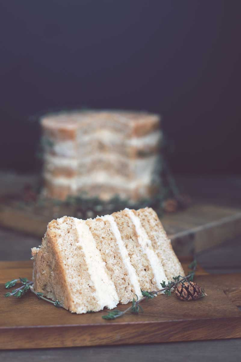 Rustic Wedding Holiday Cake Idea with Espresso Cardamom Buttercream Frosting Recipe
