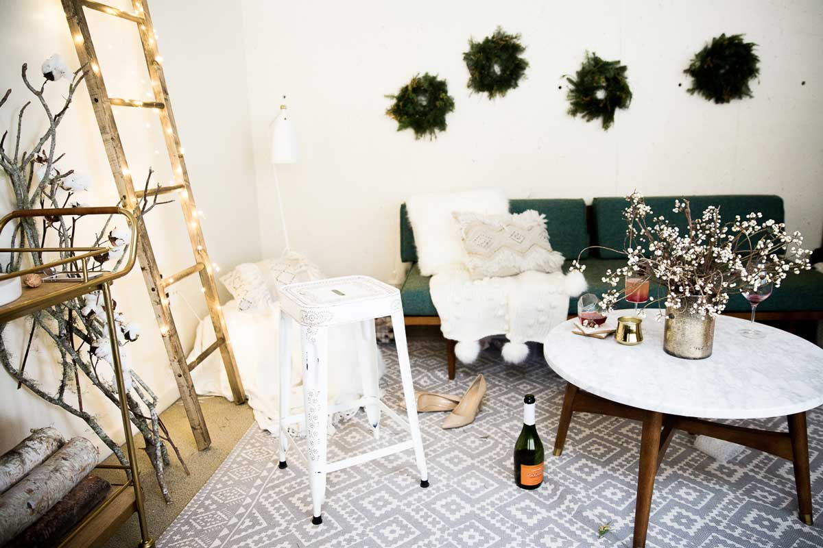Winter Cocktail Party Ideas Part - 24: ... GORGEOUS Winter Themed Party Or Wedding Inspiration With Neutrals And A  Rustic Vibe
