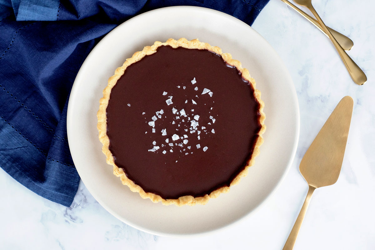 Delicious and Decadent Salted Chocolate Olive Oil Tart Recipe with Olive Oil Crust