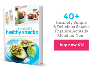 Awesome 5 Minute Healthy Snacks Cookbook!