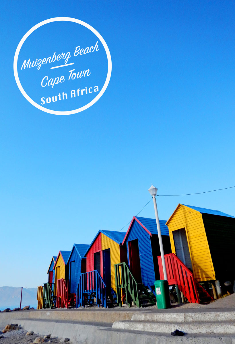 Colorful Beach Huts Muizenberg Beach, Cape Town, South Africa