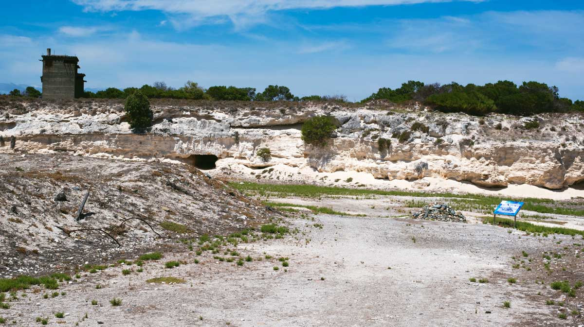 Limestone Quarry and Nelson Mandela Cairn - Robben Island, Cape Town, South Africa