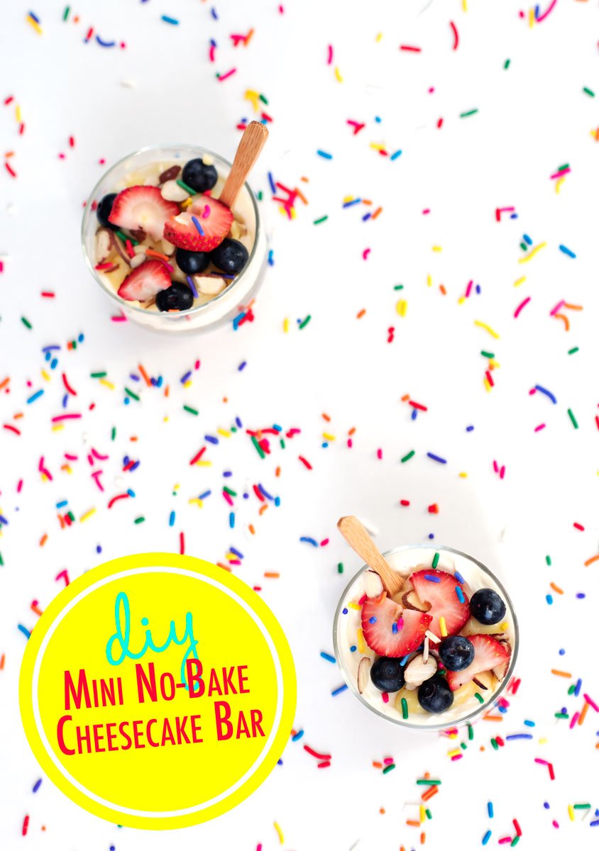 GENIUS! DIY Mini No Bake Cheesecake Recipe & Party Bar Inspiration