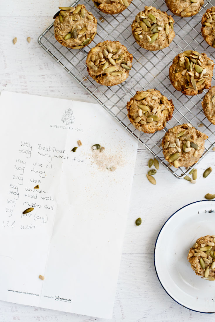 Healthy Seed Bread Muffins - made with whole grains and SO easy!