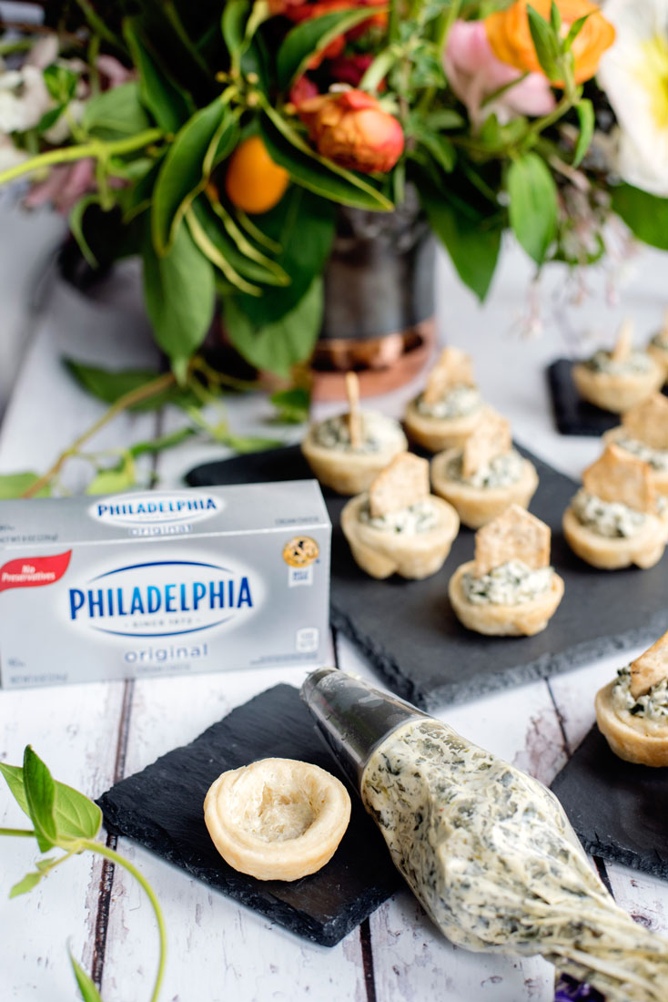 Party Recipe Ideas - Mini Spinach Dip Tartlets