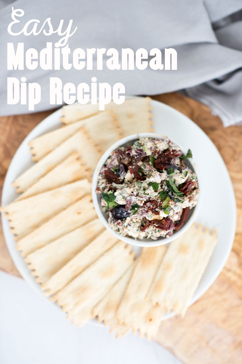 Healthy Gluten Free Easy Mediterranean Dip Appetizer Recipe