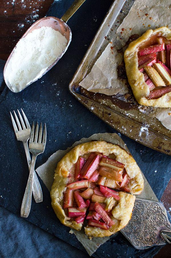 Spring Recipe Dessert Ideas - Rustic Rhubarb Galette Tart