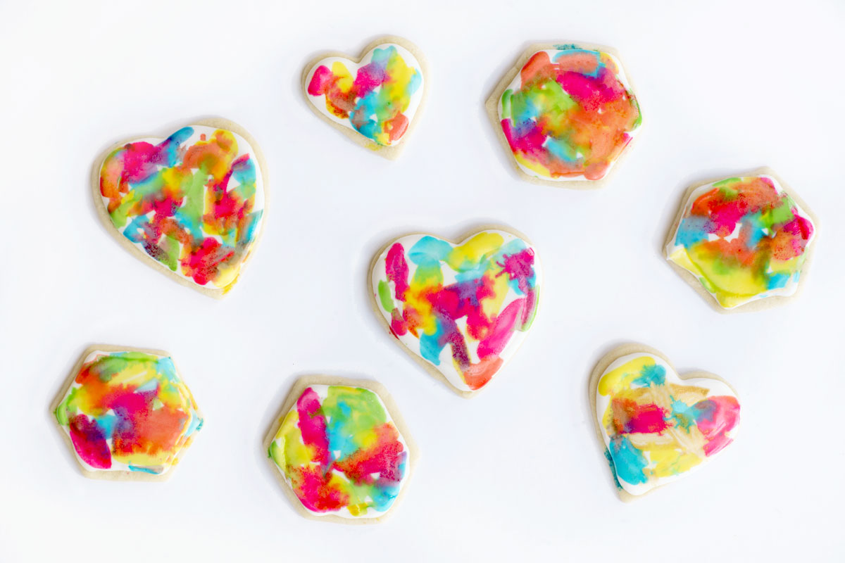 Awesome colorful tie dye sugar cookie recipe and tutorial