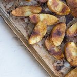Spicy Baked Potato Wedges are easy to make and SO delicious! Gluten free and vegetarian