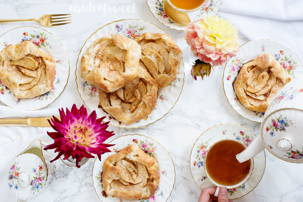 Individual Apple Cream Cheese Galettes Recipe - stunning and SO delicious!