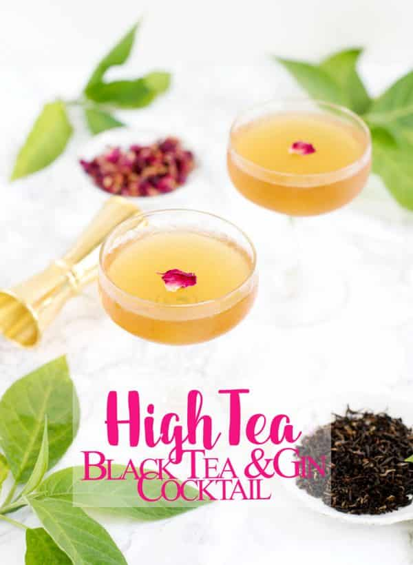 Boozy Tea cocktail recipe idea with black tea, gin and vermouth. You'll love this easy summer drink idea!