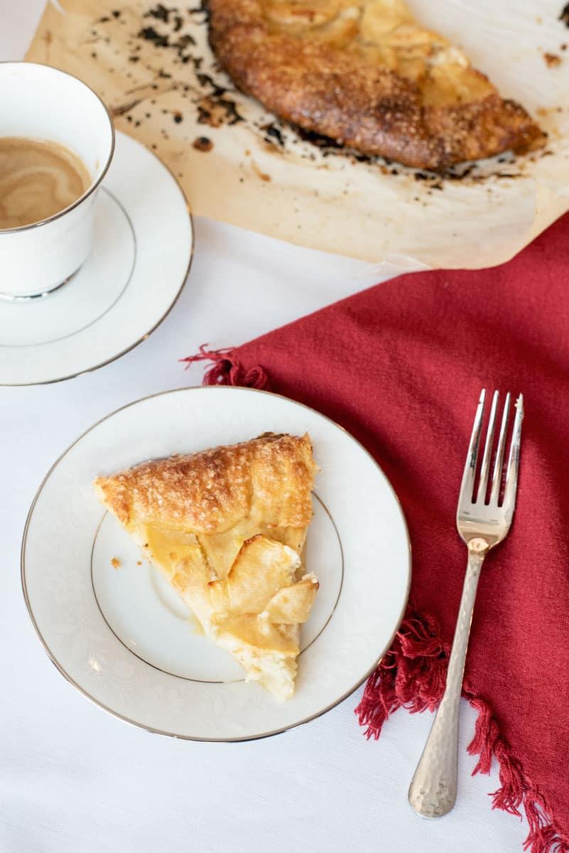 Pretty Rustic Apple Cream Cheese Galettes - the perfect fall tart recipe
