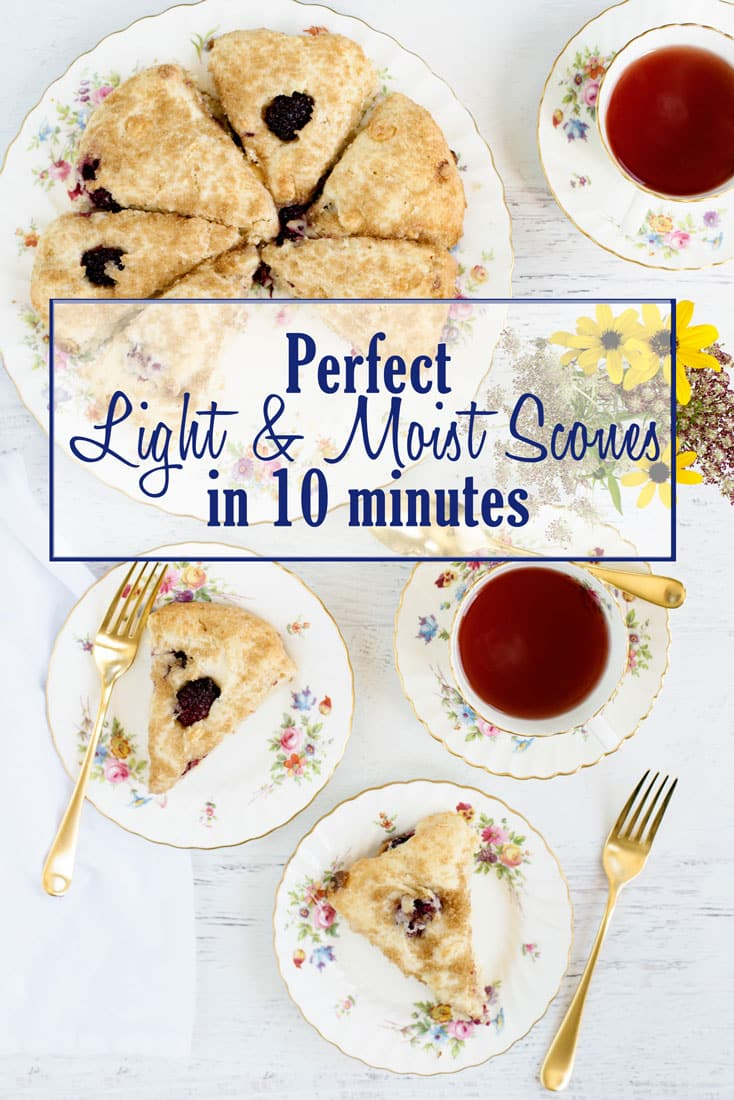 The BEST Easy Basic Light & Moist Scone Recipe - Takes 10 minutes and add ingredients of your choice, like raspberry and white chocolate