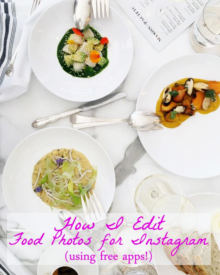 how i edit food photos for instagram   a side of sweet