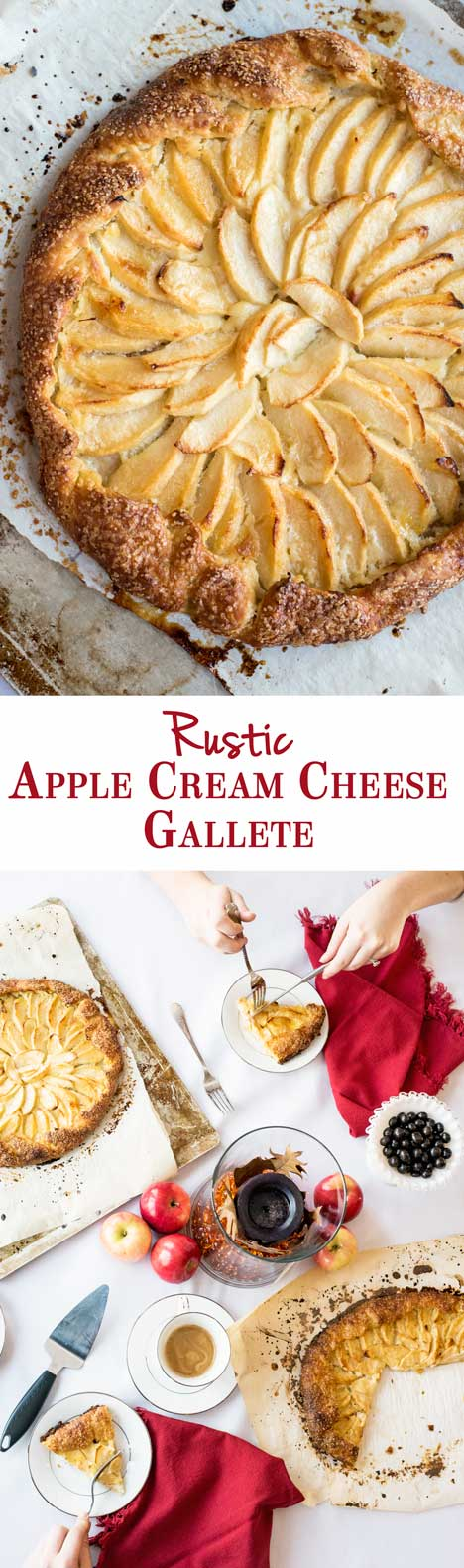 Pretty Rustic Apple Cream Cheese Galettes - the perfect fall rustic pie recipe