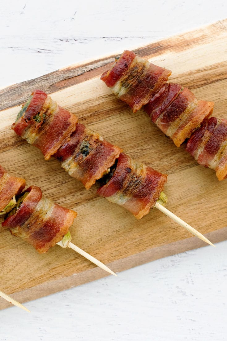 Bacon Wrapped Brussels Sprouts Skewers - Easy Appetizer Recipe