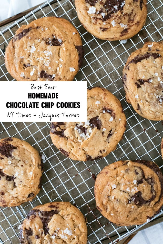The absolute BEST chocolate chip cookies recipe from the New York Times & Jacques Torres