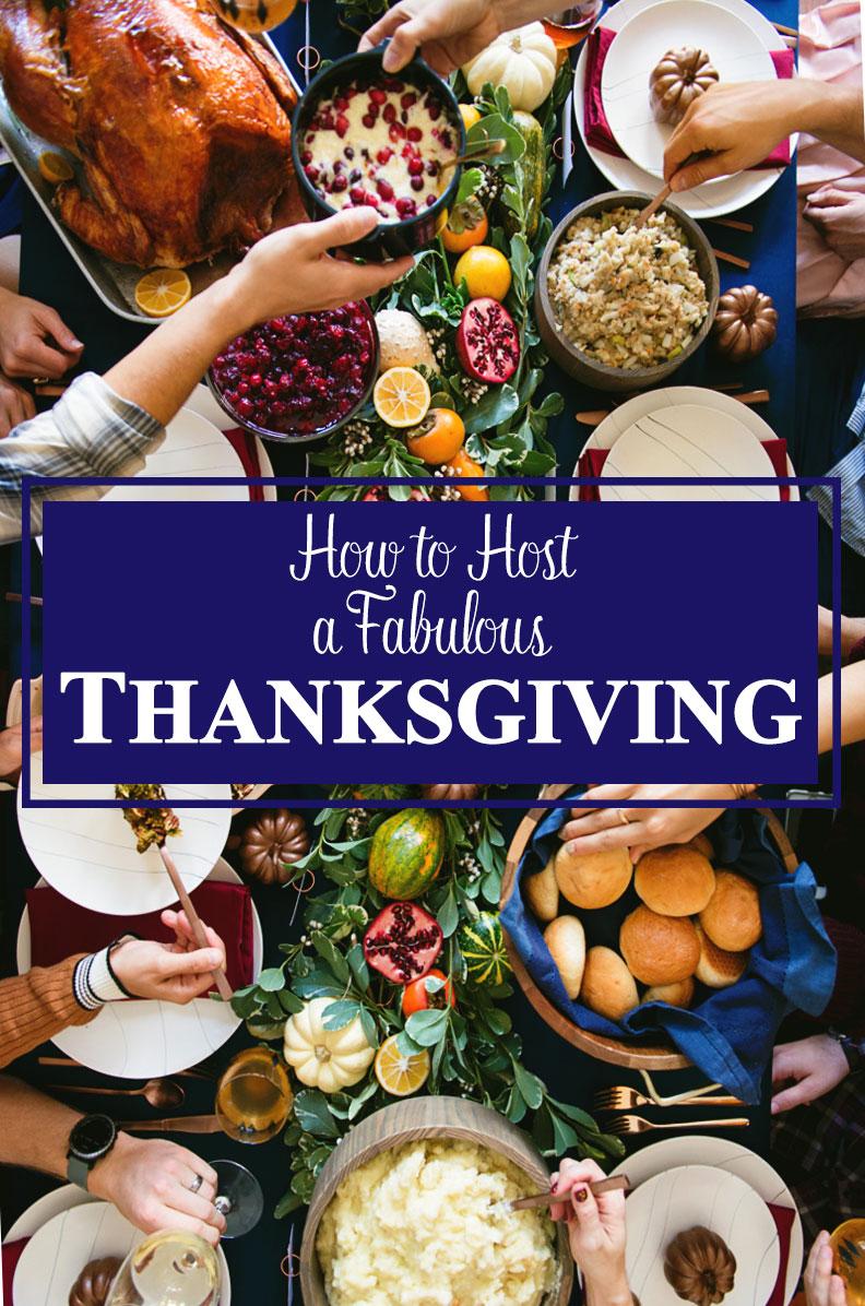 Thanksgiving Hosting Ideas - Decorations Menu and Recipes