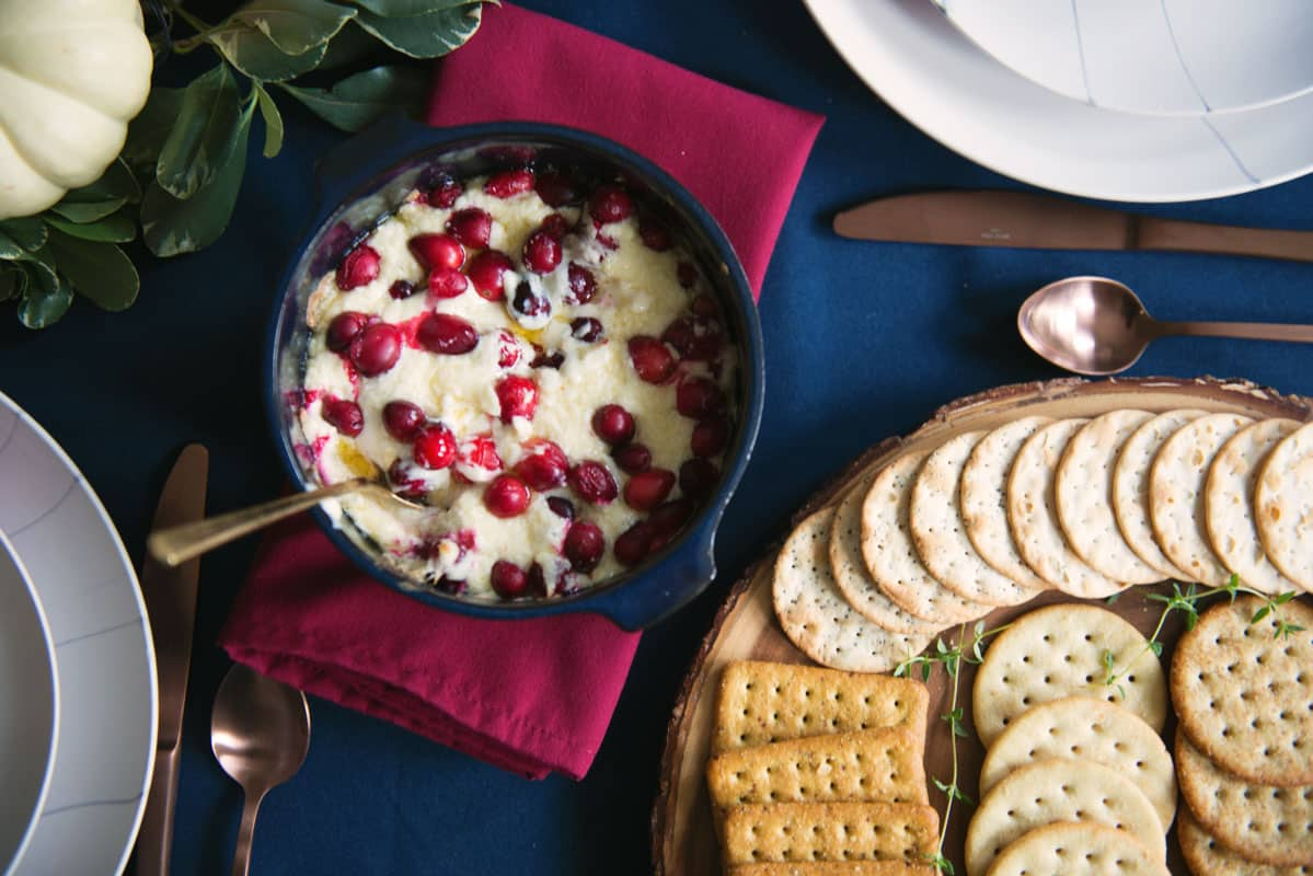 Thanksgiving Appetizer Ideas - Easy Cranberry Cheese Dip Recipe