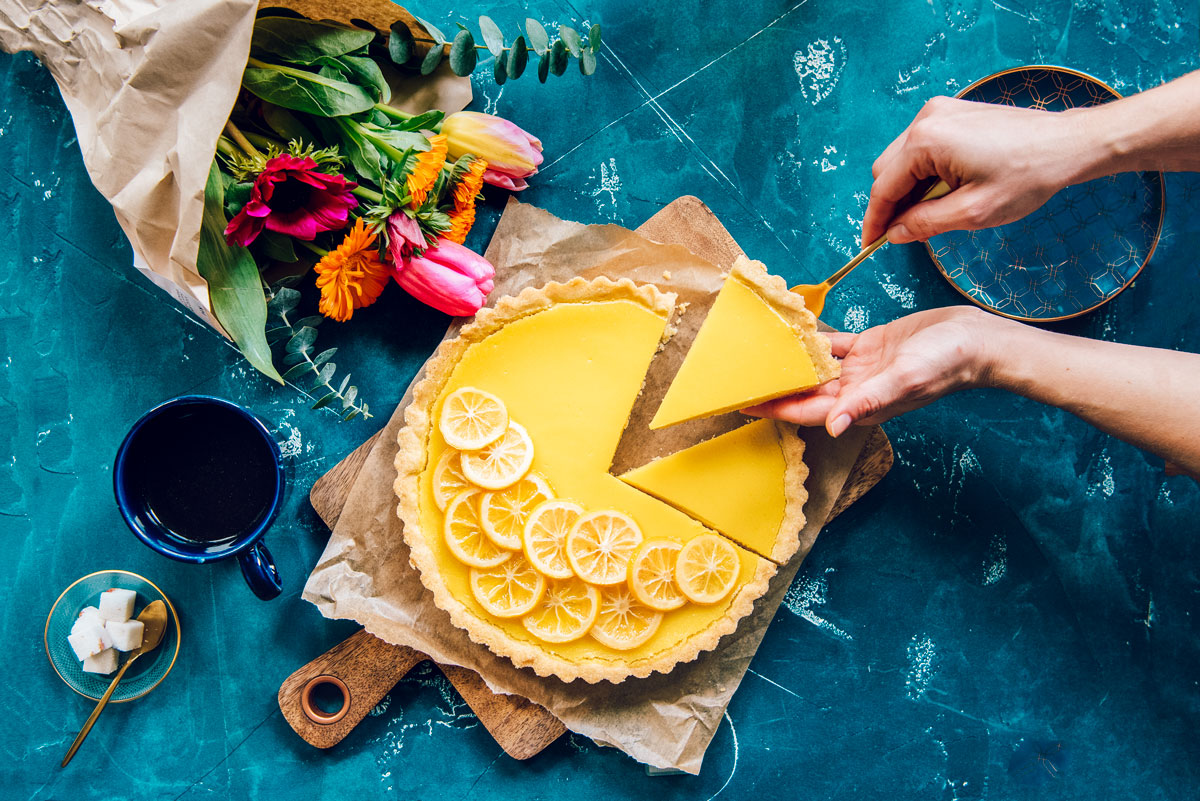 Lemon Curd Tart Recipe with Olive Oil Crust