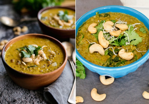 Healthy Vegan Curry Lentil Soup Recipe with Coconut Milk