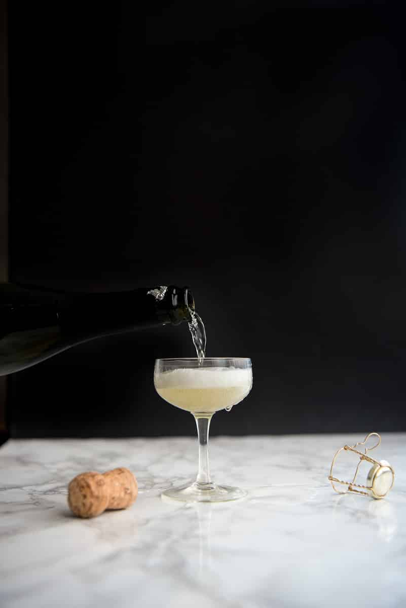Layered Prosecco Cocktail Recipe with Grenadine - also works with champagne. Perfect New Year's cocktail!