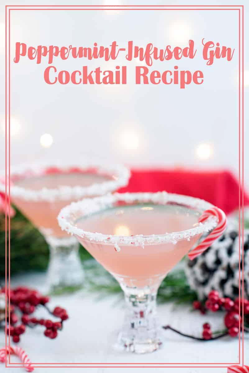 The perfect Christmas cocktail - peppermint martini recipe with candy cane infused gin