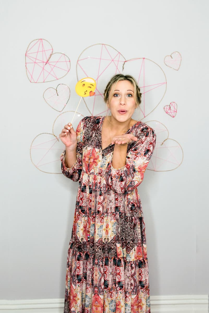 Heart Valentine S Day Photobooth Free Emoji Props A Side Of Sweet