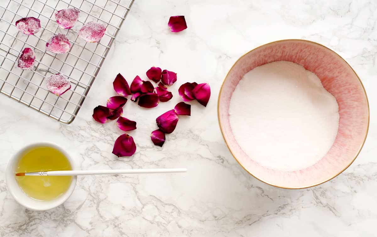 How to Make Edible Sugared or Candied Rose Petals