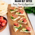 Naan BLT Bites - Easy Superbowl Recipe with Bacon, Lettuce, Tomato, Avocado
