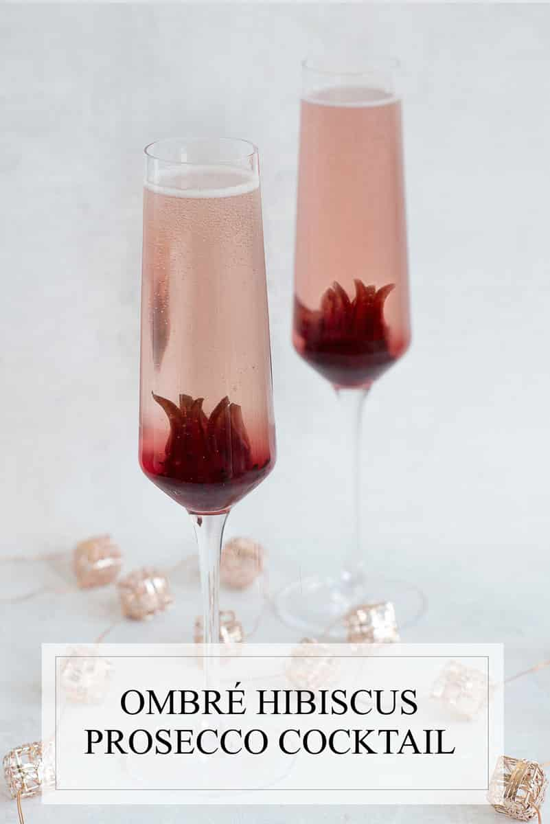 Ombre hibiscus prosecco cocktail recipe a side of sweet ombre hibiscus prosecco cocktail recipe with whole hibiscus flowers izmirmasajfo