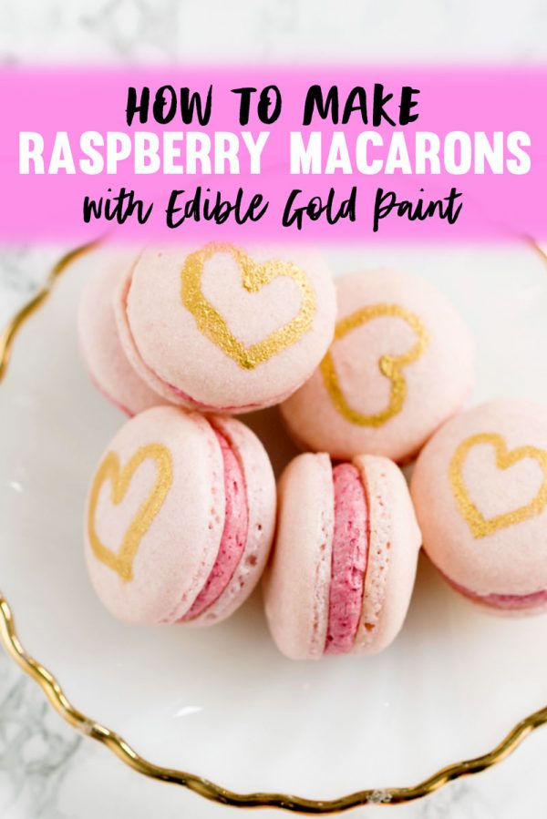 Raspberry French Macarons Recipe with Raspberry Buttercream Filling