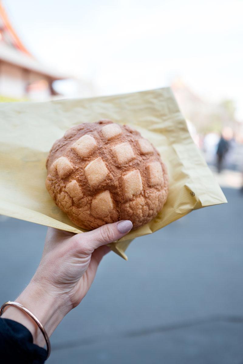 Best Melon Bread Melonpan Tokyo, Japan Asakusa Kagetsudo