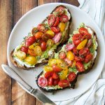 Gourmet Breakfast Toast Recipe with Avocado, Tomatoes & Ricotta