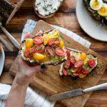 Gourmet Breakfast Toast Recipe with Avocado, Tomatoes & Ricotta