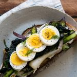 Opened Face Breakfast Sandwich Recipe with Spring Vegetables