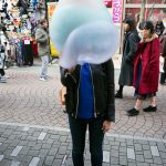 Harajuku Huge Rainbow Cotton Candy Factory Tokyo Japan