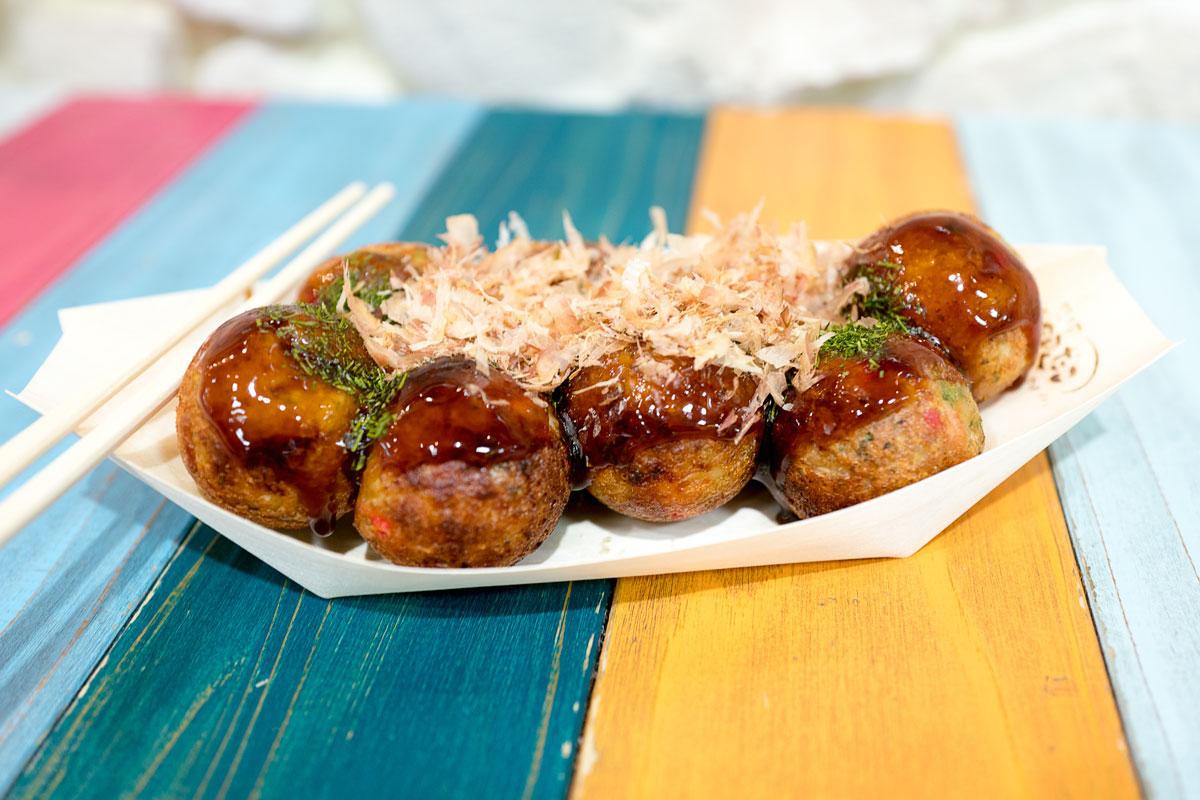 Takoyaki Fried Octopus Balls Asakusa Tokyo Japan