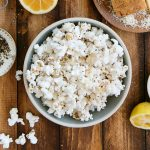 Easy Lemon Parmesan Popcorn Recipe with Infused Meyer Lemon Oil