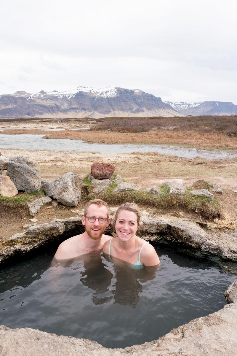 Landbrotalaug Hot Pot Secret Hot SpringsSnaefellsnes Penninsula Iceland