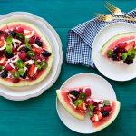 Healthy Watermelon Dessert Pizza Recipe for July 4th